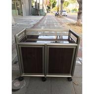 大慶二手家具 全新木紋一層鋁櫃收納櫃/置物櫃/收納櫃/掛衣櫃/儲藏櫃/鋁架