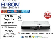Epson EB-1795F Wireless Portable Projector ** Free $80 NTUC Voucher + Epson Soft Carrying Case (Pre-Packed In Retail Packaging Box) Till 2nd Mar 2019 ** Epson EB1795F 1795F