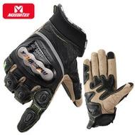 Masontex摩爵仕新款摩托車真皮手套可觸屏重型機車賽車手套男