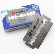DORCO 韓國不鏽鋼刀片(10片/盒) - 傳統 雙刃 雙面 手動 老式 安全 刮鬍刀片