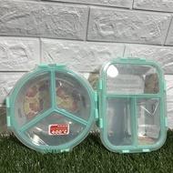 KOM分隔玻璃保鮮便當盒長方型/圓型 上蓋完全分隔倒放湯汁也不會混合 分隔保鮮盒 分隔便當盒 分隔密封保鮮盒