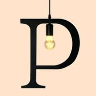 HONEY COMB 復古風英文字母吊燈 P版 TA0075