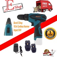 16.8v Cordless Impact Drill (more powerful)/// Cordless Drill 12v  21v 36v 48v 68v 88v Drill Battery & Charger Same Use The Bosch . Not The Bosch , Makita , Worx , Dewalt ,milwaukee ,hitachi ,dong chen ....But Quality And Warranty 6 month By Burst E Shop