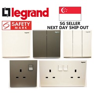 Legrand Galion Switch and Socket, Safety Mark Approved