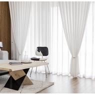 ผ้าม่านโปร่งแสง (สั่งตามขนาด) ผ้าโปร่ง ผ้าม่านสำเร็จรูป ผ้าม่านหน้าต่าง