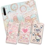 三麗鷗授權 Hello Kitty貓 / Kikilala 雙子星 / My Melody美樂蒂 realme 5/C3/6i 共用 粉嫩系列彩繪磁力皮套
