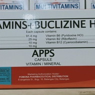 Multivitamins + Buclizine Capsule - APPS 100's  - For Appetite ( Pampagana Kumain )