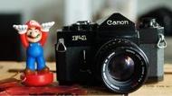 CANON F-1機皇+FD 50mm ssc f1.4大光圈鏡頭