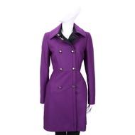 MAX MARA-SPORTMAX 紫色雙排釦設計羊毛大衣