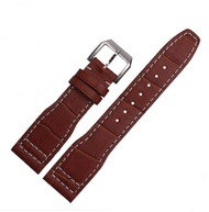 Embossed Leather Band Watch Strap 22mm for IWC Pilot's IW377709 IW502802 Watchs
