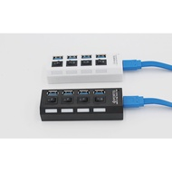 品名: 環保包裝USB3.0HUB 4口3.0分線器3.0集線器獨立開關hub 3.0集線器(顏色隨機) J-14410