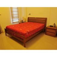 詩肯柚木 Stellan 雙人床架5×6.2(房間改成和室)出售