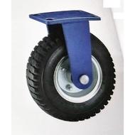 """加厚型! 固定 10"""" 風輪  PU輪 風輪 打氣輪胎 手推車輪 獨輪車輪 雙軸承 棧板車 鋁車 瓦斯車 氧氣車 10吋"""