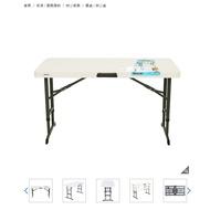 4 呎折疊桌 好市多代購 免運 Lifetime (請先詢問庫存) 可調整高度約61 / 74 / 86 公分