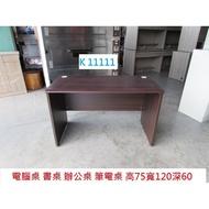 K11111 120 電腦桌 書桌 辦公桌 @ 電腦書桌 工作桌 主管桌 業務桌 回收二手桌椅 聯合二手倉庫 中科店