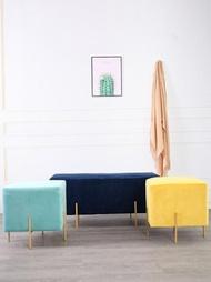 北歐時尚沙發椅簡約現代床尾凳進門換鞋凳客廳長條凳家用創意矮凳 ATF 名購居家