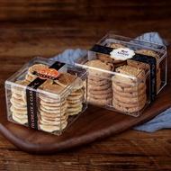 批*發硬塑膠透明曲奇餅乾盒方形手工餅乾包裝盒圓筒餅乾罐千層盒