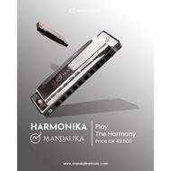 Harmonica / Harmonica 10 Holes 10 Holes Key C Original Brand Mandalika