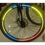 Bicycle Wheel Reflective Sticker 8 Strip Bicycle Wheel Reflective Sticker