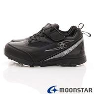 ★日本月星Moonstar機能童鞋閃電競速衝刺系列寬楦防水防滑運動鞋款8926黑(中大童段)
