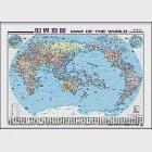 世界地圖(中英文全開掛圖)