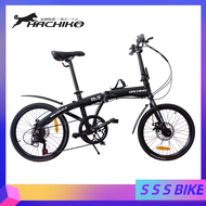 Hachiko HA-10 Foldable Bicycle 20-inch 7-speed Men's And Women's Bicycle Aluminum Frame Folding Bike