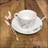 大理石紋系列餐具 咖啡杯組  (杯+勺+盤) Z080-A *文昌家具*