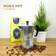 Moka coffee pot 300ml. หม้อต้มกาแฟ หม้อกาแฟ สด เครื่องชงกาแฟ กาต้มกาแฟ เครื่องทำกาแฟ เอสเพรสโซ่ มอคค่า แบบปิคนิค พกพา