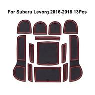 斯巴魯 汽車內飾門槽墊 Subaru Levorg 16-18年 水杯墊 儲物墊 防滑墊 置物墊 防塵隔熱墊
