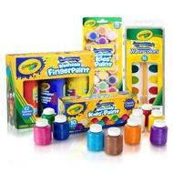 美國CRAYOLA繪兒樂顏料兒童安全無毒可水洗水彩手指畫顏料套裝