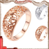 FS+Fashion Women Hollow Flower Band Handmade Finger Ring Engagement Jewelry Deor