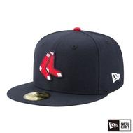 【NEW ERA】59FIFTY 5950 MLB 球員帽 紅襪 棒球帽(海軍藍)
