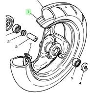 YAMAHA山葉 CUXI115 cuxi115 FS115 Limi115 前輪圈 前鑄輪 前輪框 碟煞用