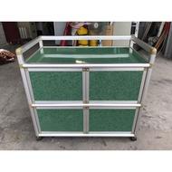大慶二手家具 綠色四門鋁架收納櫃/吊衣櫃/收納櫃/掛衣櫃/儲藏櫃/置物櫃