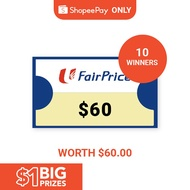 [$1 Big Prizes Winners ONLY] $60 NTUC Vouchers