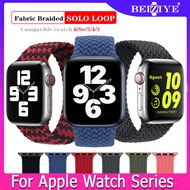 Braided Solo Loop Nylon fabric Strap For Apple Watch band 38mm 42mm 44mm 40mm Elastic Bracelet for Apple Watch Series 6 SE 5 4 3 2 1