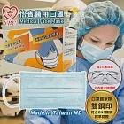 怡賓-MD雙鋼印醫療級三層口罩100片/2盒(贈2入透明護目鏡)藍色