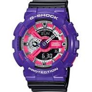 CASIO G-SHOCK 混搭撞色運動腕錶 GA-110NC-6A 紫x黑