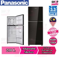 Panasonic 2-Door Top Freezer Fridge NR-BN211GK
