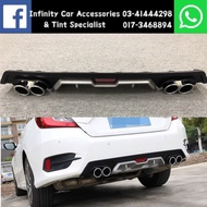 Honda Civic FC 2016-2020 Rear Diffuser with Dummy Exhaust