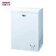 SANLUX 台灣三洋 SCF-103W  冷凍櫃 103L 七段式溫度調整 活動式輪腳 密封式防鼠鐵製底板