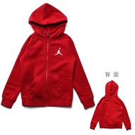 JORDAN【JDBZH6476RR】連帽外套 大童裝 男童 女童 左胸LOGO 紅色