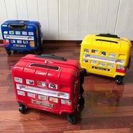 การ์ตูนเด็กกระเป๋าเดินทางแบบลาก Spinner London Bus รถ16นิ้วกล่องเดินทางกระเป๋าเดินทางนักเรียนเด็กชายเด็กกระเป๋าเดินทาง