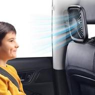 【BASEUS】倍思輕薄便攜USB三檔風速可折疊收納汽車後座頭枕用風扇/桌面風扇(黑色)