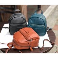 韓國🇰🇷空運~💜韓國真皮後背包~🎈三用包‼️~小小後背包~旅行後背包~牛皮材質~現貨➕預購$1580