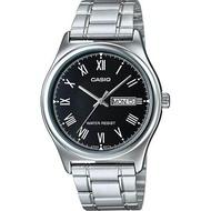 Casio นาฬิกาข้อมือผู้ชาย เลขโรมัน สายสแตนเลส รุ่น MTP-V006 ของแท้ประกันศูนย์