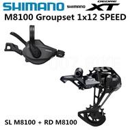 SHIMANO DEORE XT M8100 Groupset 12Speep  Mountain Bike XT Groupset 1x12-Speed SL + RD M8100 Rear Der