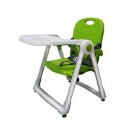 【紫貝殼*獨家加贈 泰國Wel.B 全天然冷凍乾燥鮮果乾*1】美國 ZOE Dining Booster可攜式折疊多功能兒童餐椅-蘋果綠-Green