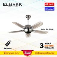 Elmark VIP 4002 42-inch Remote Ceiling Fan (Baby Fan) Kipas Siling