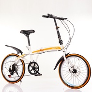 20 Inch Variable Speed Double Disc Brake Folding Bicycle Adult Outdoor Riding Alloy Single Wheel Road Mountain Bike
